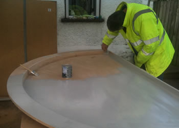This is a bespoke mold for a cover for a large spa