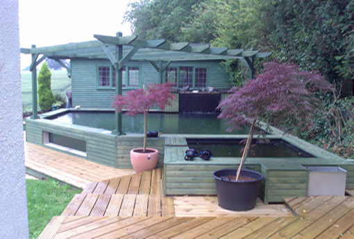 Eden pools ltd swimming pool and fibreglass specialists for Koi carp pool design