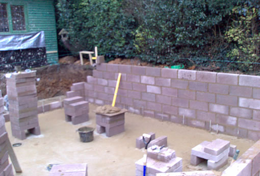 Eden pools ltd swimming pool and fibreglass specialists for Concrete block pond construction