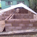 Block work complete ready for next stage of project