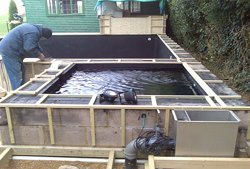 Eden pools ltd swimming pool and fibreglass specialists for Concrete fish pond construction and design